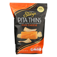 HGR1211598 - Stacy's Snacks - 5 Cheese Pita Crisps - Cheese - Case of 8 - 6.75 oz..