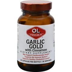 HGR1214600 - Olympian LabsGarlic Gold with Cinnamon - 30 capsules