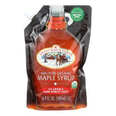HGR1226117 - Shady Maple Farms - 100 Percent Pure Organic Maple Syrup - Case of 6 - 16.9 Fl oz..