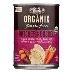 HGR1229046 - Castor and Pollux - Organic Grain Free Dog Food - Turkey Dinner with Fresh Carrots and Sweet Potatoes - Case of 12 - 12.7 oz..