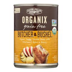 HGR1229087 - Castor and Pollux - Organic Butcher and Bushel Dog Food - Tender Chicken - Case of 12 - 12.7 oz..