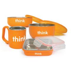 HGR1230259 - ThinkbabyFeeding Set - BPA Free - Orange