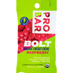 HGR1232180 - ProbarBolt Energy Chews - Organic Raspberry - 2.1 oz - Case of 12