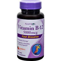 HGR1233022 - NatrolFast Dissolving Vitamin B12 - 5000 mcg - 100 tabs