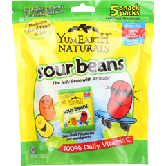 HGR1233097 - Yummy EarthOrganics Jelly Beans - Sour - Natural - 5/.7 oz - case of 12