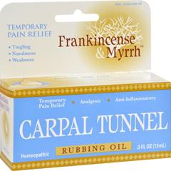 HGR1234301 - Frankincense and MyrrhCarpal Tunnel Rubbing Oil - 0.5 fl oz