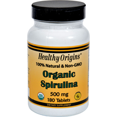 HGR1234624 - Healthy OriginsOrganic Spirulina - 500 mg - 180 Ct