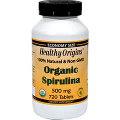 HGR1234699 - Healthy OriginsOrganic Spirulina - 500 mg - 720 Ct