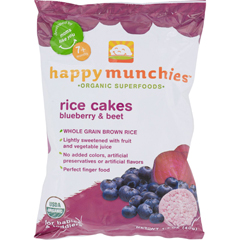 HGR1235241 - Happy BabyHappy Munchies Rice Cakes - Organic Blueberry and Beet - 1.4 oz - Case of 10