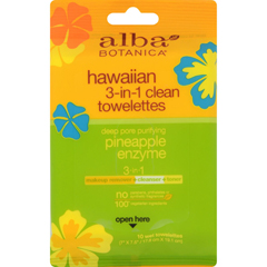 HGR1235852 - Alba Botanica3 in 1 Hawaiian Towelettes - Case of 8 - 10 Count