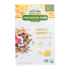 HGR1236041 - Cascadian Farm - Organic Granola Cereal - Oats and Honey - Case of 6 - 16 oz.