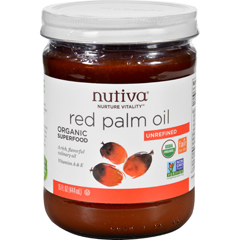 HGR1236231 - NutivaPalm Oil - Organic - Superfood - Red - 15 oz - Case of 6