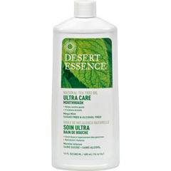 HGR1246578 - Desert EssenceMouthwash - Tea Tree U/Care Mint - 16 fl oz