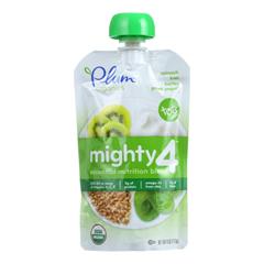 HGR1252683 - Plum Organics - Essential Nutrition Blend - Mighty 4 - Spinach Kiwi Barley Greek Yogurt - 4 oz.. - Case of 6