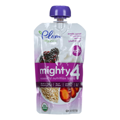 HGR1252725 - Plum Organics - Essential Nutrition Blend - Mighty 4 - Purple Carrot Blackberry Quinoa Greek Yogurt - 4 oz.. - Case of 6