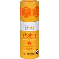 HGR1253350 - Aura CaciaOrganic Chakra Balancing Aromatherapy Roll-on - Sensual Sacral - .31 oz