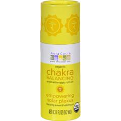 HGR1253400 - Aura CaciaOrganic Chakra Balancing Aromatherapy Roll-on - Empowering Solar Plexus - .31 oz