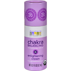 HGR1253772 - Aura CaciaOrganic Chakra Balancing Aromatherapy Roll-on - Enlightening Crown - .31 oz