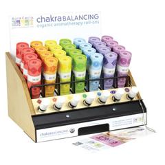 HGR1254507 - Aura CaciaOrganic Chakra Balancing Aromatherapy Roll-on Display - Assorted - .31 oz - 28 ct
