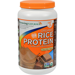 HGR1265453 - Growing NaturalsRice Protein Powder - Chocolate Power - 33.6 oz