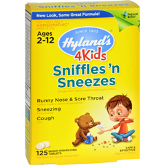 HGR1267822 - Hyland'sHomeopathic Sniffles n Sneezes 4 Kids - 125 Tablets