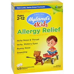 HGR1267848 - Hyland'sHomeopathic Allergy Relief 4 Kids - 125 Tablets