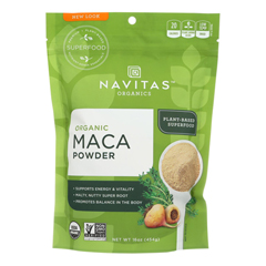HGR1268051 - Navitas Naturals - 100% Organic Maca Powder - Case of 6 - 16 oz.