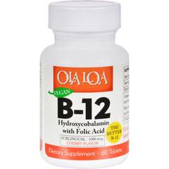 HGR1270990 - Ola Loa ProductsSublingual Hydroxycobalamin B12 - 60 Tablets