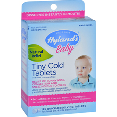 HGR1271980 - Hyland'sHomeopathic Baby Tiny Cold Tablets - 125 Tablets