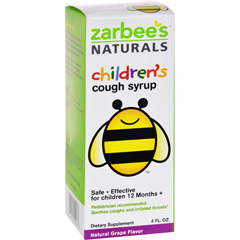 HGR1272004 - Zarbee'sAll Natural Childrens Cough Syrup - Grape - 4 oz
