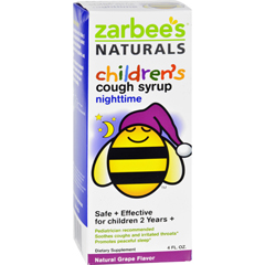 HGR1272038 - Zarbee'sAll Natural Childrens Nightime Cough Syrup - Grape - 4 oz