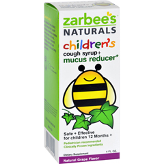 HGR1272046 - Zarbee'sNaturals Childrens Mucus Relief + Cough Syrup - Grape - 4 oz