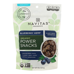 HGR1274406 - Navitas Naturals - Snacks - Organic - Power - Blueberry Hemp - Gluten Free - 8 oz.. - case of 12