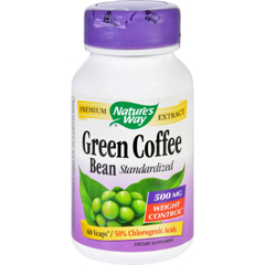HGR1279868 - Nature's WayNatures Way Green Coffee Bean - 500 mg - 60 Vegetarian Capsules