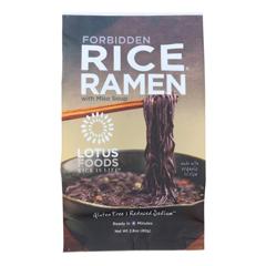 HGR1281526 - Lotus Foods - Ramen - Organic - Forbidden Rice - with Miso Soup - 2.8 oz.. - case of 10