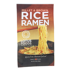 HGR1281542 - Lotus Foods - Ramen - Organic - Millet and Brown Rice - with Miso Soup - 2.8 oz.. - case of 10