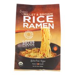 HGR1281625 - Lotus Foods - Ramen - Organic - Millet and Brown Rice - 4 Ramen Cakes - 10 oz.. - case of 6