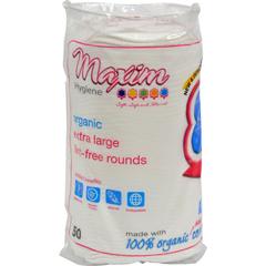 HGR1305895 - Maxim Hygiene ProductsOrganic Cotton Rounds - Extra Large - 50 ct