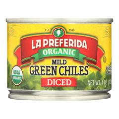 HGR1327378 - La Preferida - Diced Tomatoes - Green Chilies - Case of 12 - 4 Fl oz..
