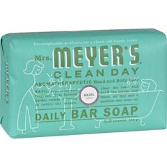 HGR1417856 - Mrs. Meyer's - Bar Soap - Basil - 5.3 oz - Case of 12