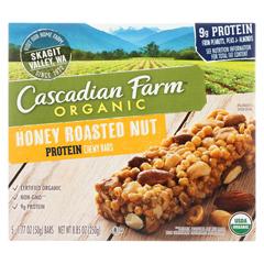 HGR1499912 - Cascadian Farm - Granola Bar - Organic - Protein - Honey Roasted Nut - 8.85 oz.. - case of 12