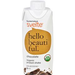 HGR1500115 - SvelteProtein Shake - Organic - Chocolate - 11 fl oz - Case of 8