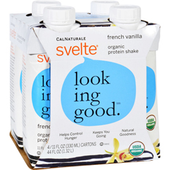 HGR1500172 - SvelteProtein Shake - Organic - French Vanilla - 11 fl oz - Case of 24