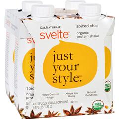 HGR1500198 - SvelteProtein Shake - Organic - Spiced Chai - 11 fl oz - Case of 24