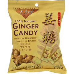 HGR1503408 - Prince of Peace100% Natural Ginger Candy Chews - 4.4 oz