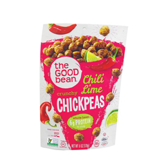 HGR1511583 - The Good Bean - Crispy Crunchy Chickpea Snacks - Smoky Chili and Lime - Case of 6 - 6 oz..