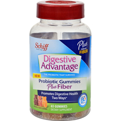 HGR1512987 - Schiff VitaminsDigestive Advantage - Probiotic Gummies plus Fiber - 65 ct
