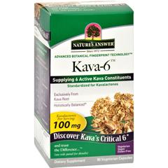 HGR1516251 - Nature's AnswerKava 6 Capsules - Gluten Free - 90 Vegetarian Capsules