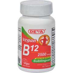HGR1516541 - Deva Vegan VitaminsSublingual B12 - 2500 mcg - 90 Tablets