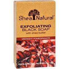 HGR1518166 - Shea NaturalBlack Soap - Shea Butter Exfoliating Midnight Pomegranate - 5 oz